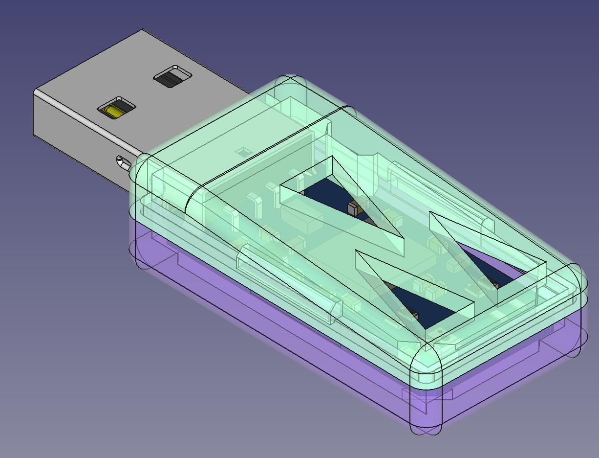 uThing::VOC REV.A Enclosure 3D Model